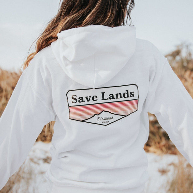 Established 2020 Hoodie (Back Print) 18500 Lands White S