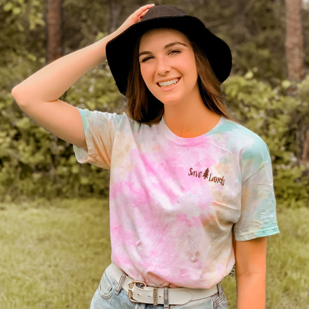 Simple Black Logo Sherbert Tie Dye Tee 1000 - SHERBERT Lands S