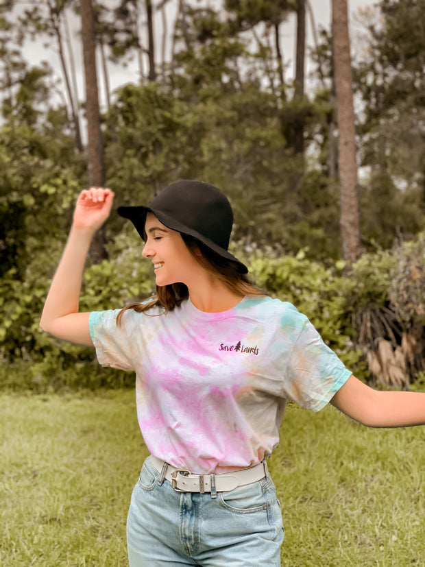 Simple Black Logo Sherbert Tie Dye Tee 1000 - SHERBERT Lands