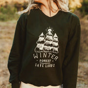 Winter Forest Crewneck 18000 Lands