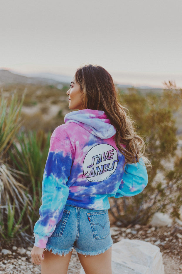 Modern Coin Cotton Candy Tie Dye Hoodie (Back Print) 8777 - COTTON CANDY Lands