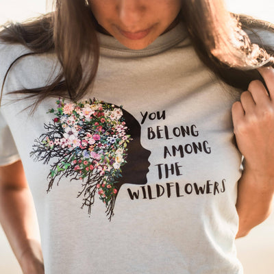 Wildflowers Tee T-Shirt Printify Light Blue L