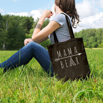 Mama Bear Arrow Tote Bag Q600 Lands