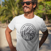 Men's Find Your Road Tee T-Shirt Printify White S