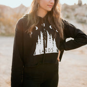 Moon Gaze Crop Top Hoodie Hoodie Lands