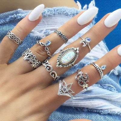 Opal Dreams Stacking Ring Set Jewelry Lands