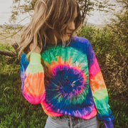 Copy of Simple Neon Rainbow Tie Dye Long Sleeve 2000 DESERT ROSE Lands