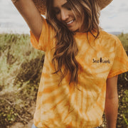 Simple Save Lands Gold Tie Dye Tee 1000 SPIDER GOLD Lands