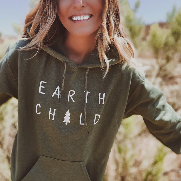 Earth Child Hoodie 18500 Lands Military Green S