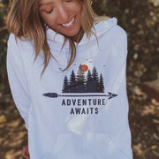 Adventure Awaits Hoodie 18500 Lands