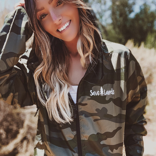 Save Lands Forest Camo Wind Breaker EXP54LWZ Lands