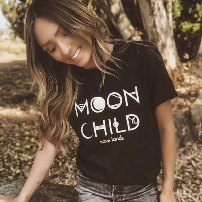 Moon Child Tee 5000 Lands Black S