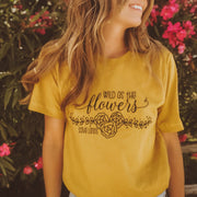 Wild As The Flowers Tee 3001 Lands Mustard S