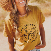 The Journey is the Destination Tee 5000 Lands S Mustard