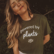 Powered By Plants White Print Tee 5000 Lands