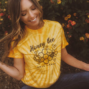 Honey Bee Gold Tie Dye Tee 1000 SPIDER GOLD Lands