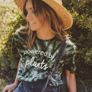 Powered by Plants Green Tie Dye Tee 1000 GREEN SPIDER Lands