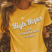 High Hopes Low Standards Tee 5000 Lands