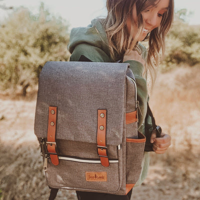Grey Messenger Backpack BACKPACK Lands