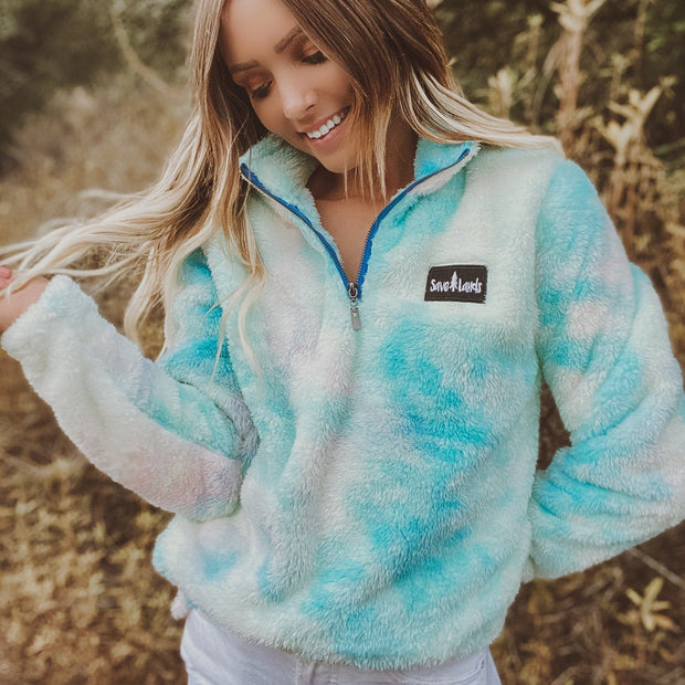 PREORDER Blue Tie Dye Save Lands Sherpa Sherpa Lands S