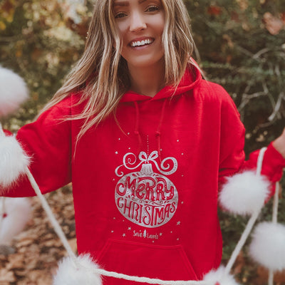 Silver Ornament Hoodie 18500 Lands Red S