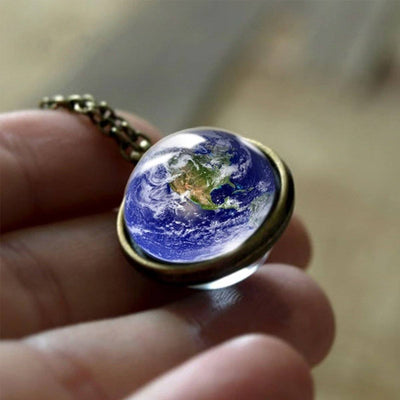 Planet Earth Necklace Jewelry Lands