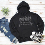 Plants Are Friends Hoodie Hoodie Printify Black L