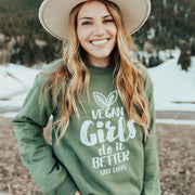 Vegan Girls Crewneck Sweatshirt 18000 Lands Military Green S