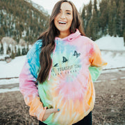 Give Yourself Time Tie Dye Hoodie Tie Dye Lands