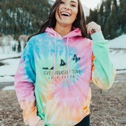 Give Yourself Time Tie Dye Hoodie Tie Dye Lands S