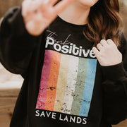 Think Positive Crewneck Sweatshirt 18000 Lands Black L