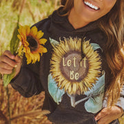 Let It Be Hoodie Hoodie Printify Dark Heather L