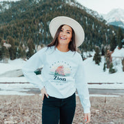Zion National Park Crewneck Sweatshirt 18000 Lands