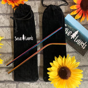 Save Lands Reusable Straws and Carrying Case Lands