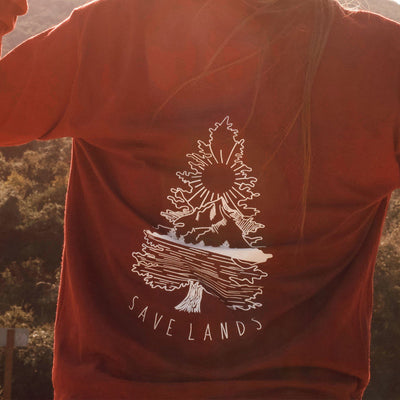Tree Scene Long Sleeve Long-sleeve Lands Maroon S
