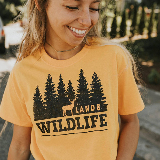 Wildlife Black and Gold Tee T-Shirt Printify Gold L