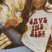 Save The Bees Retro Dandelion Tie Dye Tee Tie Dye Lands S