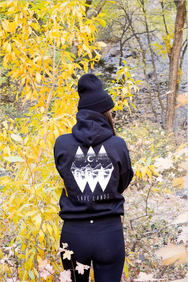 Diamond Skies (Back Print) Hoodie 18500 Lands