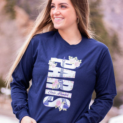 Paris Long Sleeve 2400 Lands Navy L