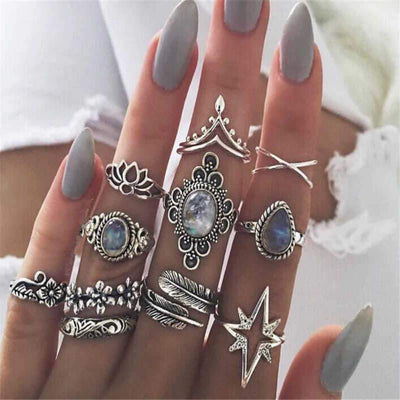 Starburst Stacking Ring Set Jewelry Lands