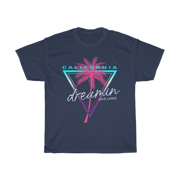 California Dreamin' Tee T-Shirt Printify Navy S