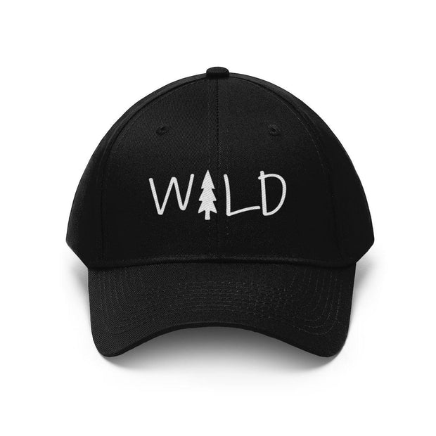 Wild Hat (White Text) Hats Printify Black One size
