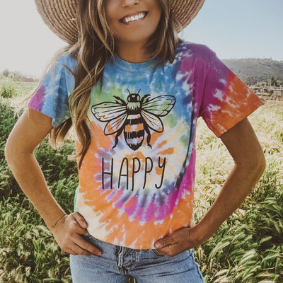 Bee Happy Eternity Tie Dye Tee 1000 ETERNITY Lands S Eternity Tie Dye