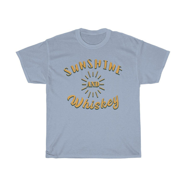 Sunshine & Whiskey Tee T-Shirt Printify Light Blue S