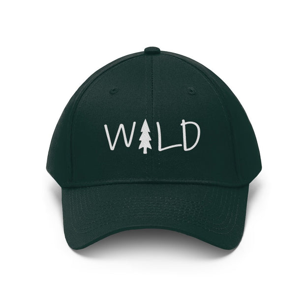Wild Hat (White Text) Hats Printify Forest Green One size