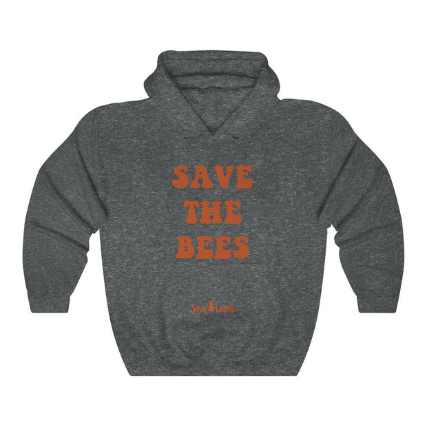 Save The Bees Groovy Hoodie Hoodie Printify Dark Heather S