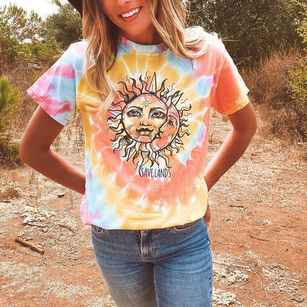 Black Print Sun & Moon Eternity Tie Dye Tee 1000 ETERNITY Lands S