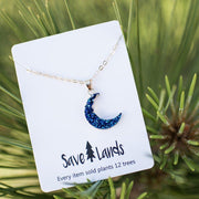 Crescent Moon Necklace Jewelry Lands