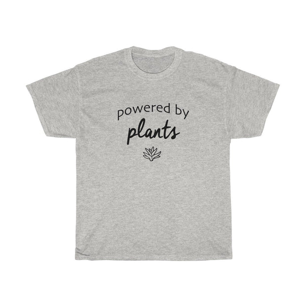 Powered by Plants Tee T-Shirt Printify Ash S