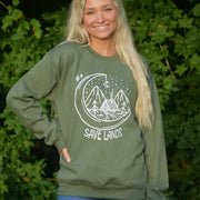 Cabin Crewneck 18000 Lands Military Green S